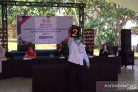 Pengundian nomor paslon Pilkada Sukabumi sesuai protokol kesehatan