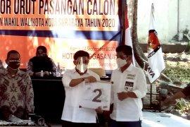 Makna nomor urut 2 bagi Cawali Surabaya Machfud Arifin adalah kemenangan