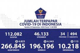 Positif COVID-19 di Indonesia bertambah 4.823, sembuh 4.343 orang