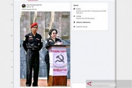 Hoaks, Megawati pidato di podium berlogo palu arit