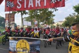 200 pesepeda ikut Gowes Haornas di Medan