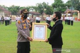 Polresta Deli Serdang terima penghargaan Promoter Reward pelayanan masyarakat