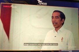 HUT KAI, Presiden Jokowi: Kereta api transportasi murah, aman, dan nyaman