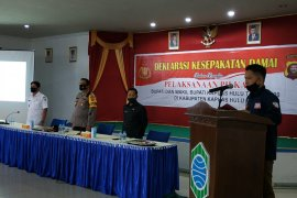 Ketua KPU Kapuas Hulu pimpin deklarasi kesepakatan damai