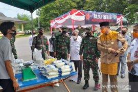 Sambut HUT TNI, Kodim 0414 Belitung gelar pasar murah