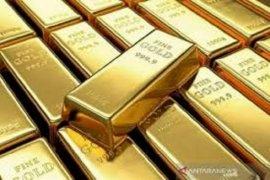 Emas naik tipis ditopang pelemahan dolar dan ketidakpastian stimulus AS