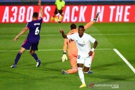 Vinicius Junior cetak gol semata wayang untuk memenangkan Real Madrid 1-0 atas Valladolid