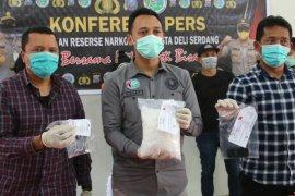 Polresta Deli Serdang tangkap kurir bawa sabu-sabu 1,5 kg