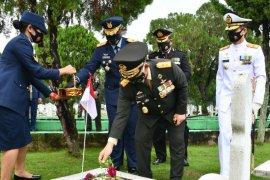 Pangdam I/BB ziarah nasional sambut HUT ke-75 TNI