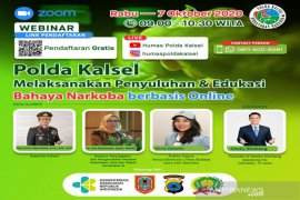 S Kalimantan Police to hold first online drug counseling in Indonesia