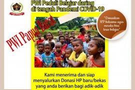 PWI Peduli Papua Barat galang donasi smarphone