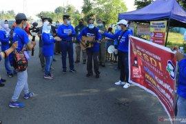 Pjs wali kota Gebrak masker depan RSD Idaman