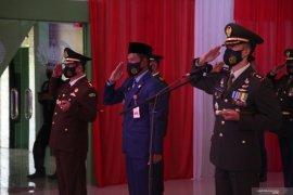 Bupati- Forkopimda ikuti upacara HUT ke-75 TNI secara virtual