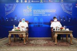 Gubernur Khofifah berharap FESYar 2020 jadi momentum pertumbuhan ekonomi syariah