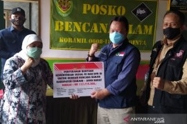 DPR dan Kemensos serahkan bantuan untuk korban bencana alam