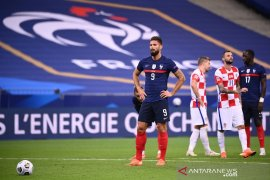Olivier Giroud dipuji Deschamps jelang penampilan ke-100 untuk timnas Prancis,