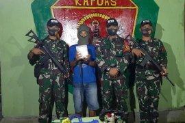 Satgas Pamtas gagalkan penyelundupan sabu di Bengkayang