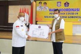 Kepala BNPB serahkan bantuan penanganan COVID-19 di Gorontalo