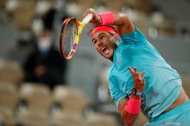 Rafael  Nadal ke semifinal Roland Garros ke-13 kali setelah kalahkan Sinner