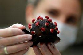 Kafe ini sajikan jajanan kue bentuk virus corona