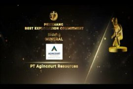 Tambang Emas Martabe raih tiga Penghargaan Pertambangan dan Penghargaan Best Exploration Commitment