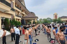 Polda Banten amankan 54 pelajar  yang diduga akan ikut demo ke Jakarta