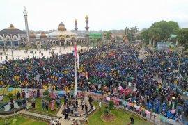 Tolak Omnibus Law, mahasiswa dan pelajar duduki gedung DPRD Bengkulu