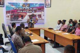 Polres Tolikara gelar binrohtal ke personel dan Bhayangkari