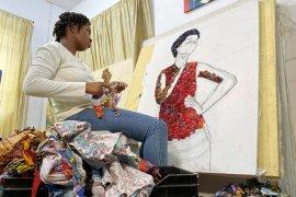 """Batik"" Afrika disulap jadi karya seni"