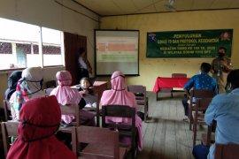 Warga Pulau Hanaut respon positif penyuluhan Narkoba dari Satgas TMMD