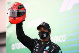 Lewis Hamilton samai rekor Michael Schumacher usai juara di GP Eifel Nurburgring