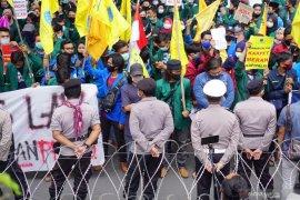 Aliansi mahasiswa Tulungagung demo tolak UU Cipta Kerja