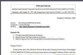 Warga Batiknau Bengkulu surati presiden tolak pembaharuan izin HGU PT PDU