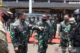Kasad Jenderal TNI Andika Perkasa lepas keberangkatan prajurit TNI AD latihan bersama US Army