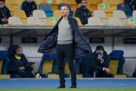 UEFA Nations League - Pelatih Ukraina Andriy Shevchenko melambung tinggi ke awan setelah tekuk Spanyol