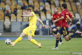 Ukraina menang tipis 1-0 atas Spanyol