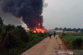 Sumur minyak Pertamina di Lopak Alai Muarojambi terbakar
