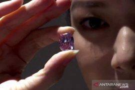 Berlian merah muda ini  dilelang ratusan miliar