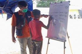 PMI Lhokseumawe ajarkan Bahasa Indonesia kepada pengungsi Rohingya