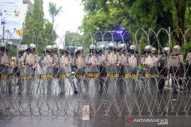 Pengamanan Aksi Mahasiswa Tolak Omnibus Law