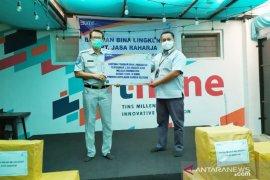 JR Babel Serahkan 2.500 Masker Kain Bersama Forum BUMN