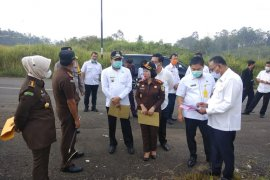 Kejati Lampung tinjau lokasi pembangunan kantor Kejari Pesawaran