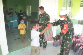 TMMD lancar, Satgas Syukuran dan menyantuni anak yatim