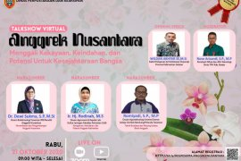 "S Kalimantan Library's talkshow on ""Anggrek Nusantara"""