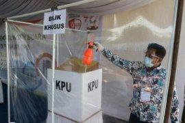 KPU Medan simulasi pencoblosan dengan penerapan  protokol kesehatan