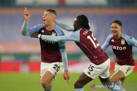 Liga Inggris, Villa lanjutan tren positif dengan kemenangan dramatis atas Leicester