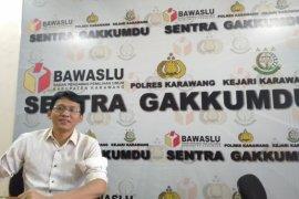 Tiga pasangan calon bupati-wabup Karawang abaikan protokol kesehatan saat kampanye