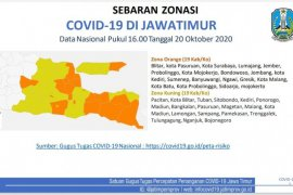 19 Kabupaten/kota di Jatim masuk zona kuning