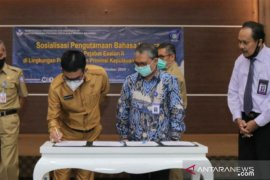 Pejabat eselon II Pemprov Babel ikut sosialisasi pengutamaan bahasa Indonesia