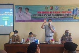 Jasa Raharja -- Bapenda Banten bersinergi mengedukasi mahasiswa STAIN Syekh Manshur tentang PKB dan SWDKLLJ
